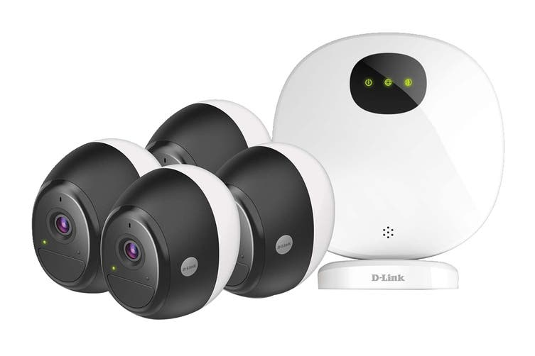D-Link  4-Pack Omna Wire-Free Camera Kit (DCS-2804KT)
