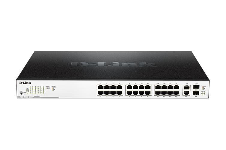 D-Link 26-Port Surveillance Switch with 24 PoE & 2 Combo RJ45/SFP Ports (DGS-1100-26MP)