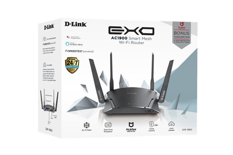 D-Link EXO AC1900 Smart Mesh Wi-Fi Router (DIR-1960)