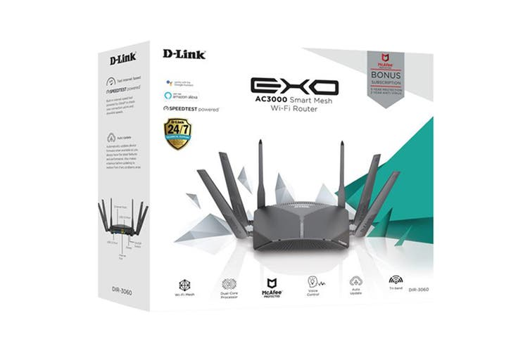 D-Link EXO AC3000 Smart Mesh Wi-Fi Router (DIR-3060)