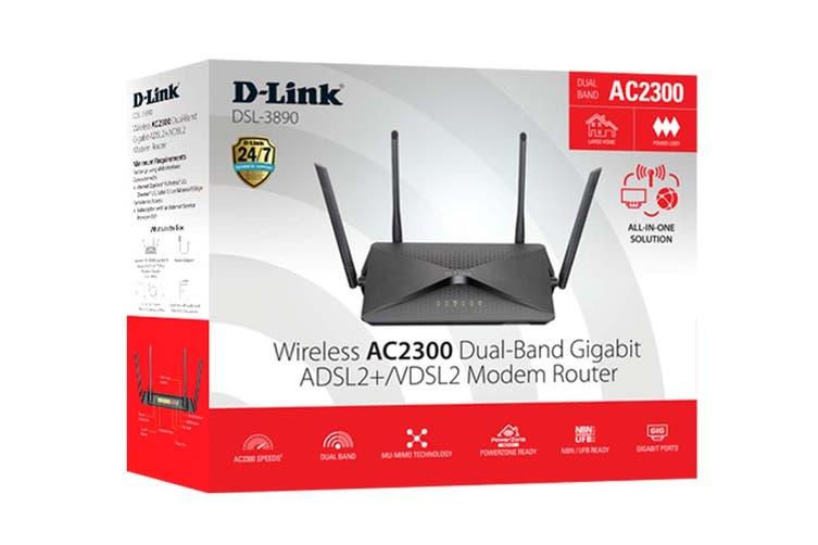 D-Link AC2300 Wireless AC2300 Modem Router (DSL-3890)