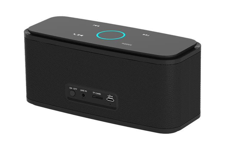 DOSS SoundBox Portable Bluetooth Speaker with Bluetooth 4.0 and 12W HD Sound - Black (DS1681BLK)