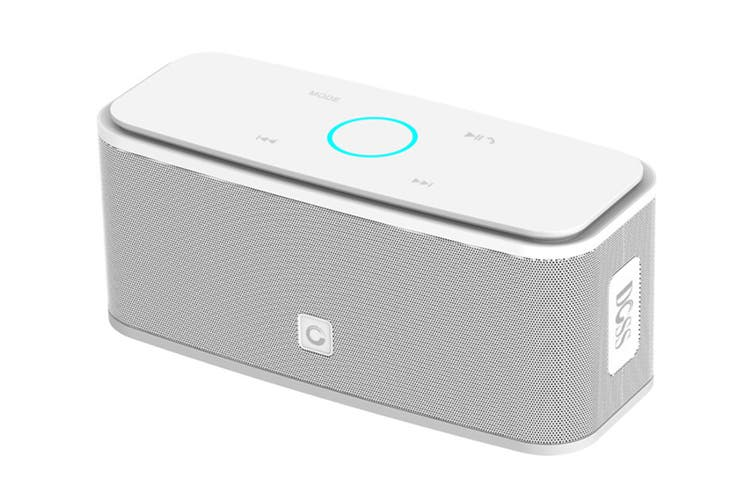 DOSS SoundBox Portable Bluetooth Speaker with Bluetooth 4.0 and 12W HD Sound - White (DS1681WHT)