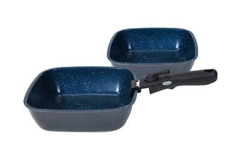 FlavorStone Diamond Deep Pan Set with Detachable Handle - 22cm/24cm