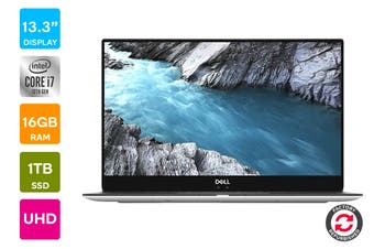 "Dell XPS 13 9370 13.3"" Windows 10 4K Laptop (i7-10710U, 16GB RAM, 1TB, Platinum Silver) - Certified Refurbished"