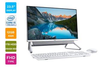 "Dell Inspiron 5490 23.5"" FHD Windows 10 Touchscreen All-in-One AIO Desktop (i5-10210U, 12GB RAM, 1TB HDD, 256GB SSD, White)"