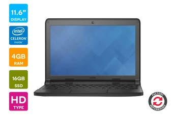 """Dell 11.6"""" Chromebook Refurbished (N2840, 4GB RAM, 16GB) - AB Grade"""