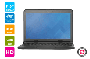 "Dell 11.6"" Chromebook Refurbished (N2840, 4GB RAM, 16GB) - AB Grade"