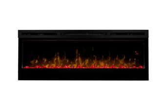 "Dimplex 34"" PRISM Wall Mounted Electric Fire - Black with Ice Media Bed/White Pebbles (BLF3451-AU)"