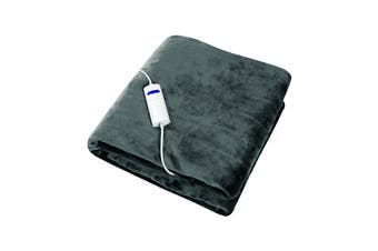 Dimplex Dream Easy Micro Fleece Flannel Heated Throw - Charcoal (DHDEHT)