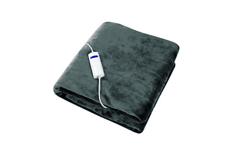 Dimplex Dream Easy Micro Fleece Flannel Heated Throw - Charcoal (DHDEHT)