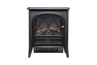 Dimplex 2000W 2kW Ritz Portable Electric Fire with Optiflame Log Effect - Anthracite (RITZ-C)
