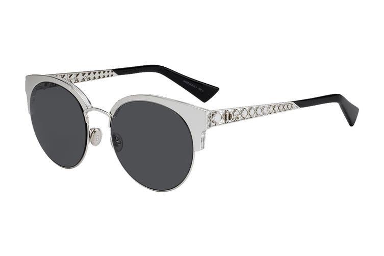 Dior DIORAMAMINI Sunglasses (Palladium, Size 50-19-145) - Grey Blue