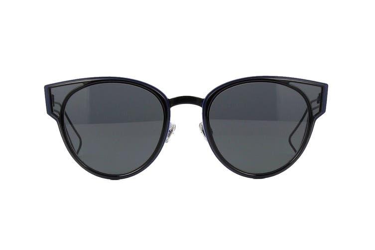 Dior DIORSCULPT Sunglasses (Shn Black, Size 63-15-145) - Gray