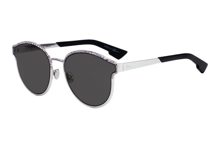 Dior DIORSYMMETRIC Sunglasses (Marble Pink, Size 59-19-145) - Gray Ar