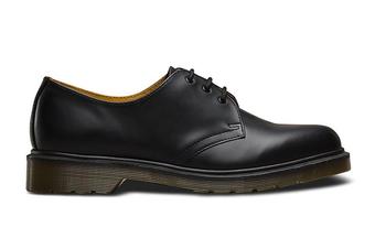 Dr. Martens 1461 Plain Welt Smooth Narrow Shoe (Black, Size 7 UK)