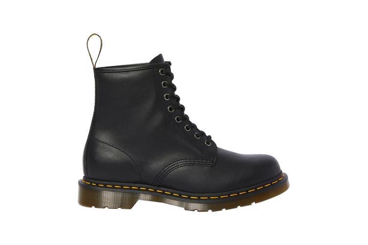 Dr. Martens 1460 Black Nappa Hi Top Shoe (Black, Size 3 UK)