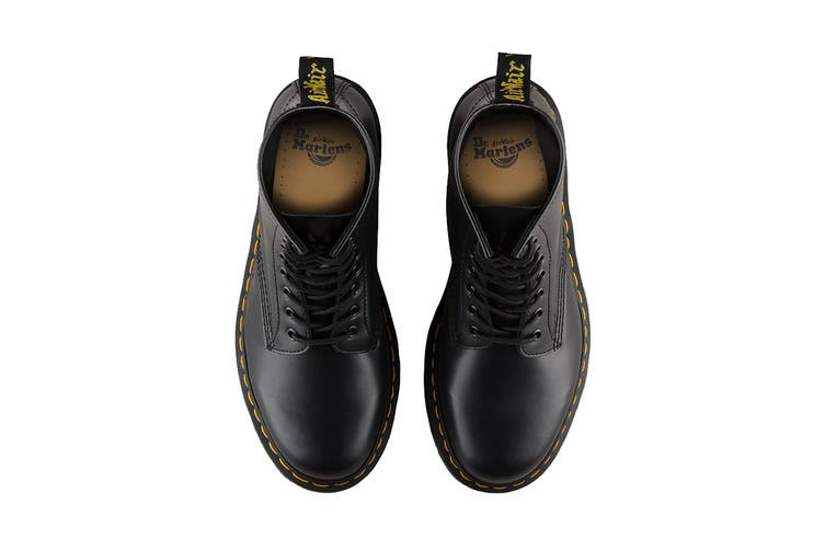 Dr. Martens 1460 Smooth Leather Hi Top Shoe (Black, Size 7 UK)