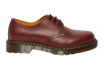 Dr. Martens 1461 Smooth Leather Low Top Shoe (Cherry Red, Size 9 UK)