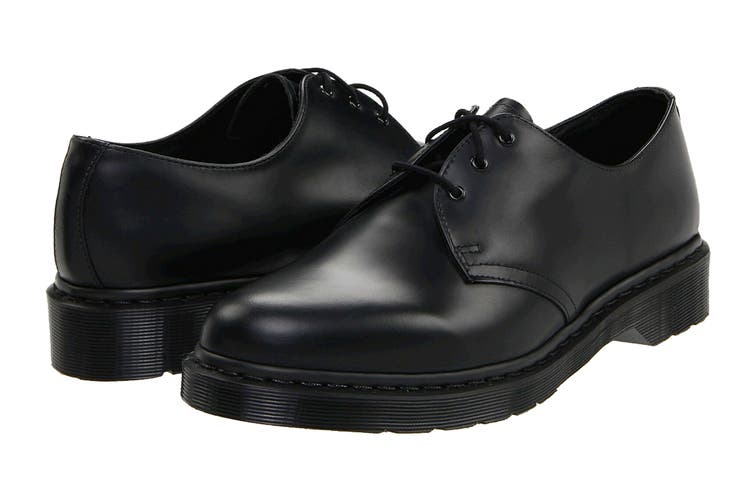 Dr. Martens 1461 Mono Smooth Low Top Shoe (Black, Size 9 UK)