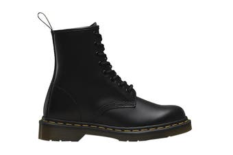 Dr. Martens 1460 Smooth Leather Hi Top Boots (Black, Size 6 UK)