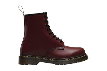 Dr. Martens 1460 Smooth Leather Hi Top Shoe (Cherry Red, Size UK 10)