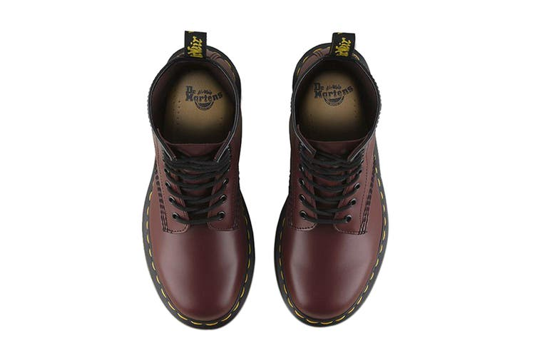 Dr. Martens 1460 Smooth Leather Hi Top Shoe (Cherry Red, Size UK 11)