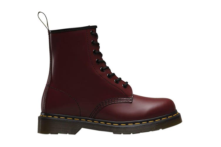 Dr. Martens 1460 Smooth Leather Hi Top Shoe (Cherry Red, Size 4 UK)
