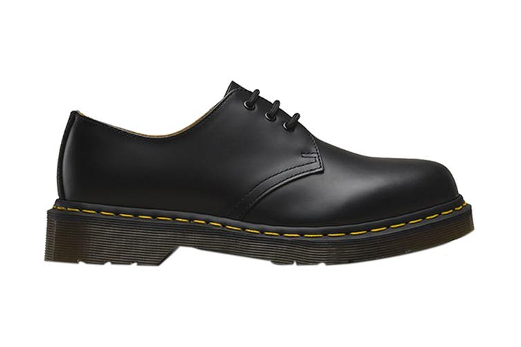 Dr. Martens 1461 Smooth Leather Low Top Shoe (Black, Size UK 10)