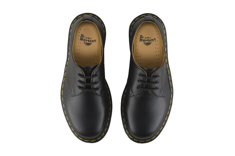 Dr. Martens 1461 Smooth Leather Low Top Shoe (Black, Size UK 11)