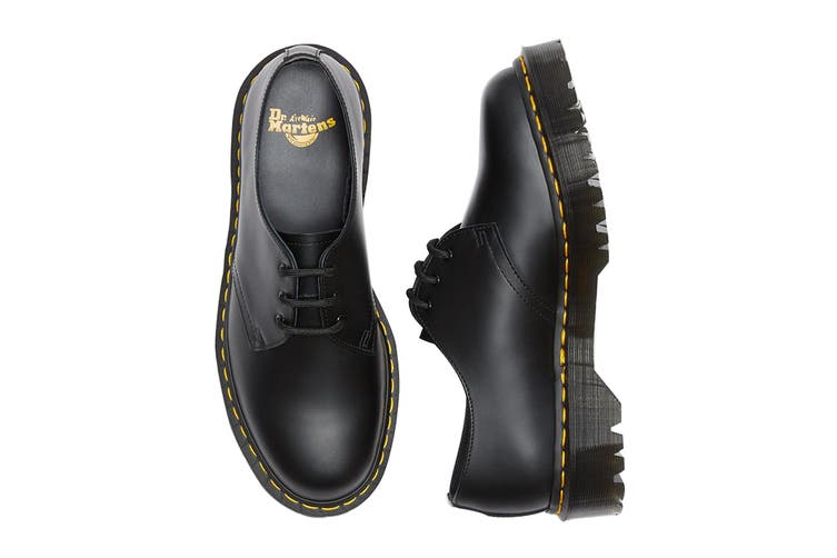 Dr. Martens 1461 Bex Smooth Leather Low Top Shoe (Black, Size 8 UK)