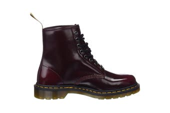 Dr. Martens 1460 Vegan Oxford Rub Off Hi Top Shoe (Cherry Red, Size 8 UK)