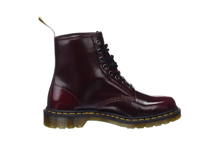 Dr. Martens 1460 Vegan Oxford Rub Off Hi Top Shoe (Cherry Red, Size 8 UK)