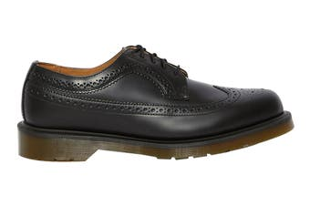 Dr. Martens 3989 Smooth Leather Brogue Low Top Shoe (Black, Size 10 UK)