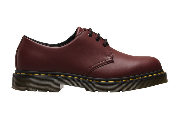 Dr. Martens 1461 Slip Resistant Leather Low Top Shoe (Cherry Red Industrial Full Grain, Size 9 UK)
