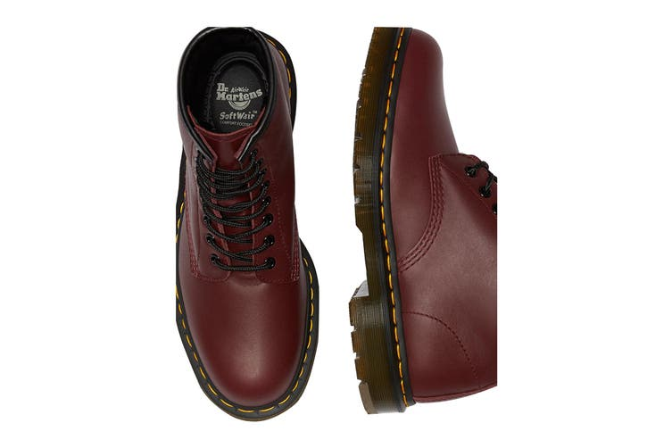 Dr. Martens 1460 Non Slip Leather Ankle Boots (Cherry Red Industrial Full Grain, Size 11 UK)