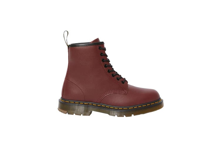 Dr. Martens 1460 Non Slip Leather Ankle Boots (Cherry Red Industrial Full Grain, Size 8 UK)