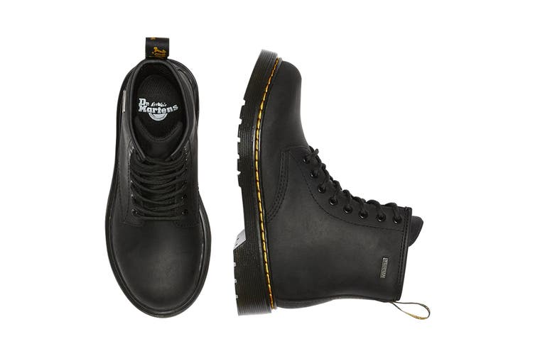 Dr. Martens Kids' 1460 Waterproof Leather Ankle Boots (Black Republic Waterproof, Size 10 UK)