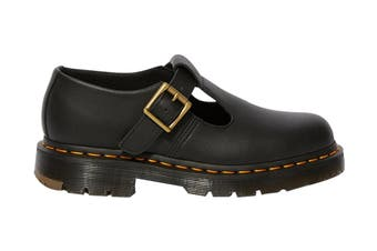 Dr. Martens Women's Polley Slip Resistant Mary Jane Shoe (Black Industrial Full Grain, Size 8 UK)