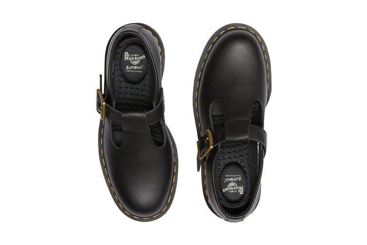 Dr. Martens Women's Polley Slip Resistant Mary Jane Shoe (Black Industrial Full Grain, Size 8 UK)