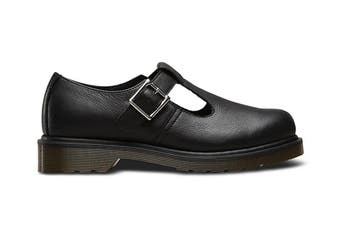 Dr. Martens Women's Polley Virginia Shoe (Black, Size 3 UK)