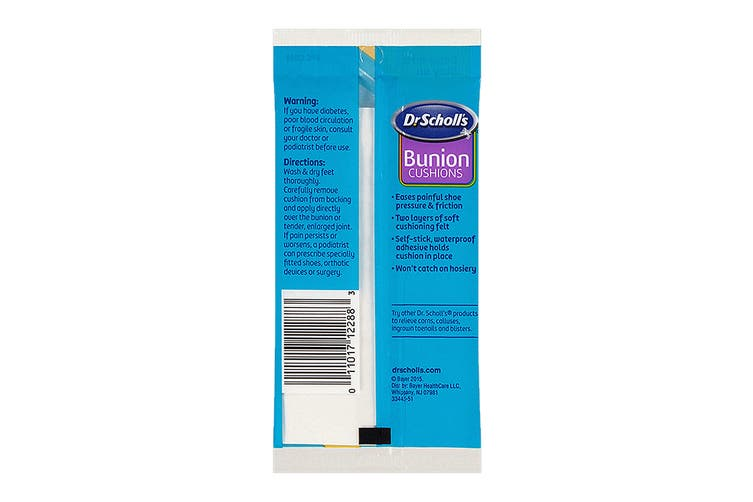 Dr. Scholl's Unisex Felt Bunion Cushions, 6 Pack (Clear, One Size)