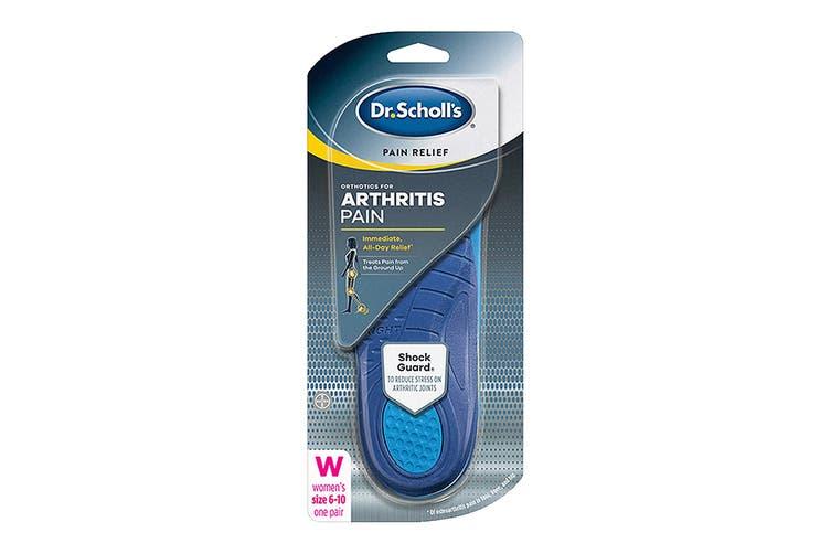 Dr. Scholl's Women's Pain Relief Orthotics Arthritis Pain (Blue, Size 6-10 US)