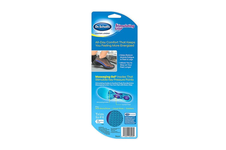 Dr. Scholl's Women's Comfort & Energy Stimulating Step Insoles (Blue, Size 6-10 US)
