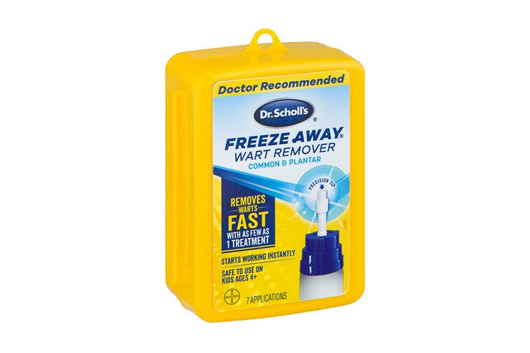 Dr. Scholl's Unisex Freeze Away 7 Treatments Yellow Box For First Aid Section (Clear, One Size)