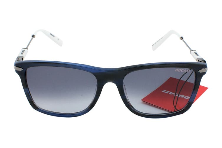 Ducati 5003 Sunglasses (Dark Navy Blue, Size 55-17-145) - Gradient Grey