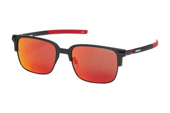 Ducati 5004 Sunglasses (Matte Black, Size 56-18-145) - Brown Flash Red Gradient