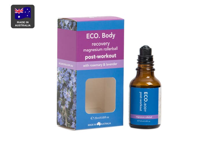 ECO. Post Workout Magnesium Roller Ball with Rosemary & Lavender Essential Oil (25ml)