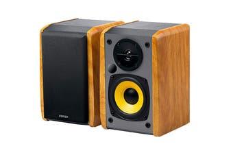 Edifier Powered 2.0 Lifestyle Bookshelf Bluetooth Studio Speakers - Brown (R1010BT)
