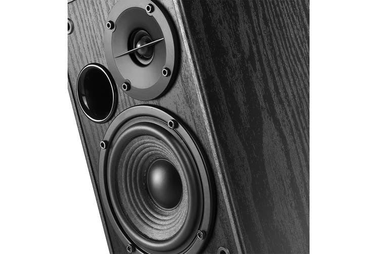 Edifier 2.0 42W Lifestyle Active Bookshelf Bluetooth Studio Speakers Black with Bluetooth, AUX & Dual Mic (R1580MB)